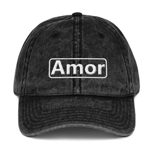Amor Vintage Cotton Twill Cap - UniqXpression