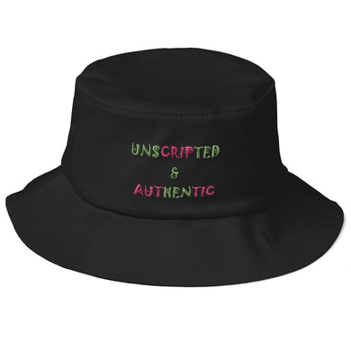 Unscripted & Authentic Old School Bucket Hat
