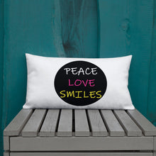 Peace Love Smiles Premium Pillow