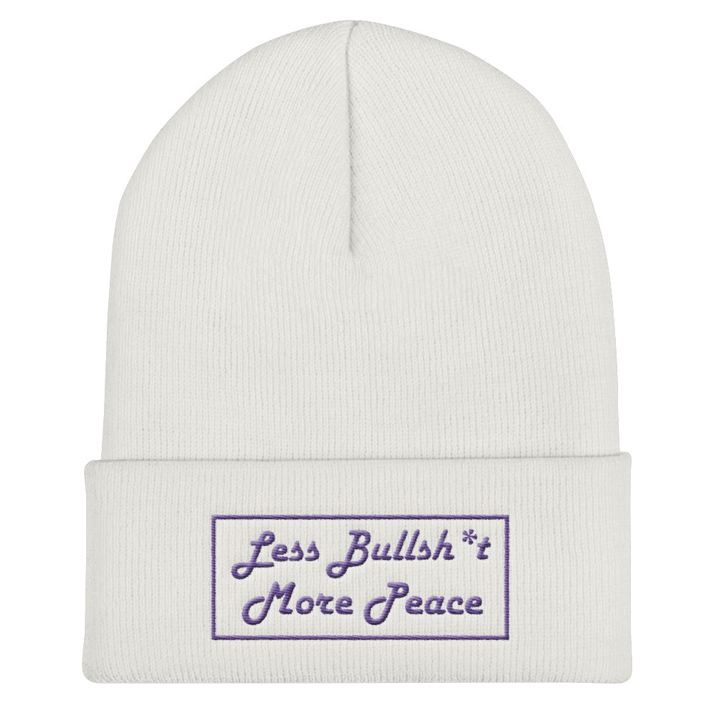 Less B.S. Cuffed Beanie - UniqXpression