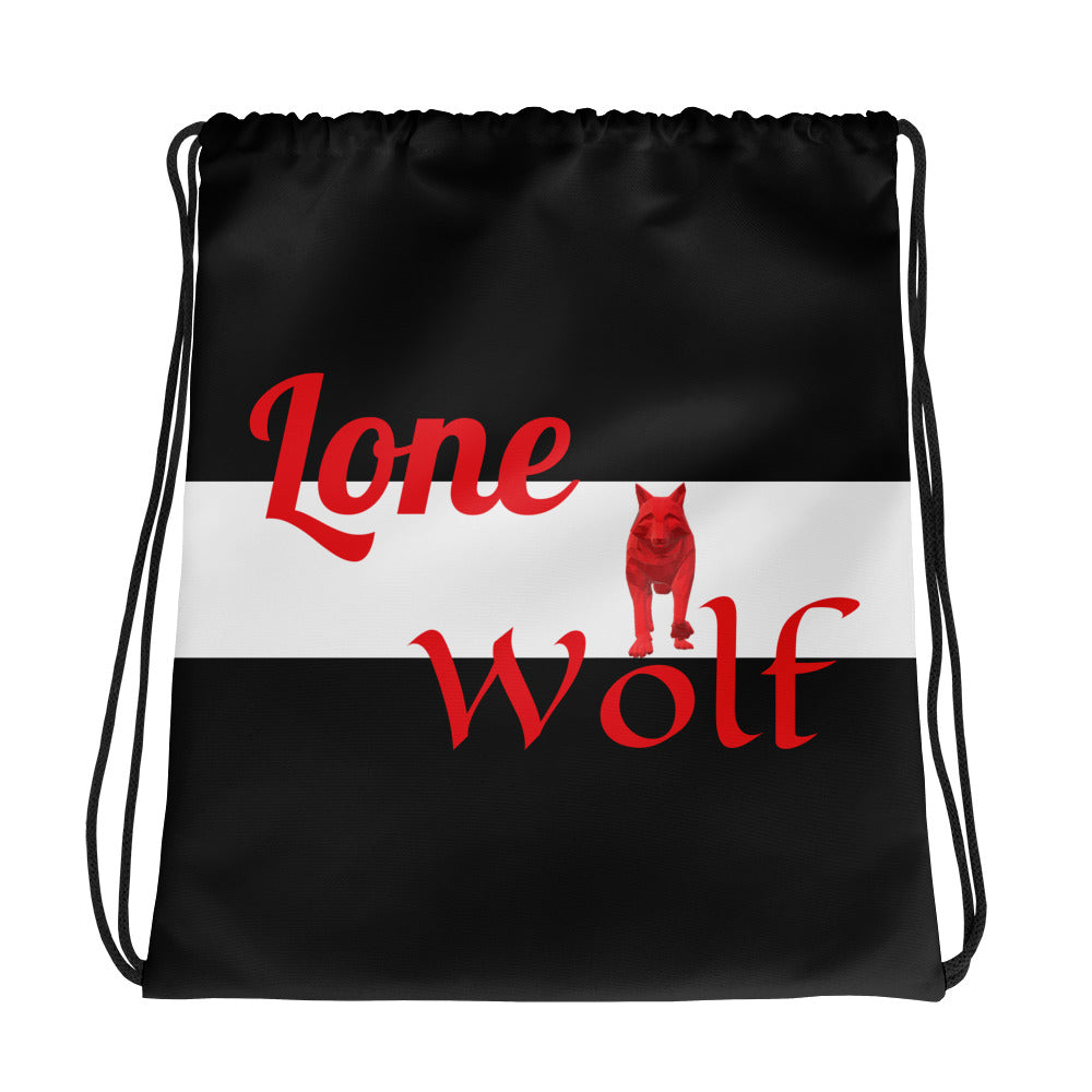 Lone Wolf Drawstring bag - UniqXpression