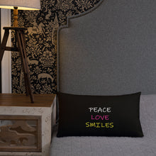Peace Love Smile Premium Pillow