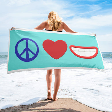 Peace Love Smiles Towel