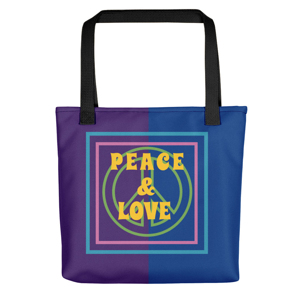 PEACE AND LOVE Tote bag - UniqXpression