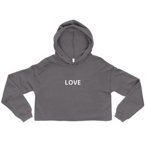 Love Crop Top Hoodie - UniqXpression