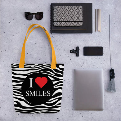I Heart Smiles Tote bag