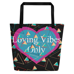 Loving Vibes Only Beach Bag - UniqXpression