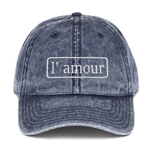 L'amour Vintage Cotton Twill Cap - UniqXpression