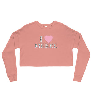 I Love Me Crop Top Sweatshirt - UniqXpression