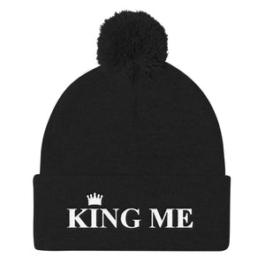 KING ME Pom Pom Knit Cap - UniqXpression