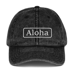 Aloha Vintage Cotton Twill Cap - UniqXpression