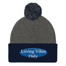 Loving Vibes Only Pom Pom Knit Cap - UniqXpression