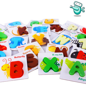 [HOT] Wooden Toddlers Alphabet Puzzle