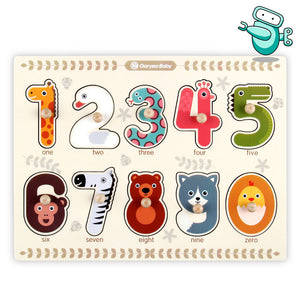 [HOT] Goryeo Baby Wooden See-Inside Animal Peg Puzzle