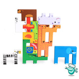 [HOT] Montessori Wooden Animal Square Puzzle