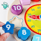 [HOT] Montessori Wooden Shape Sorting Clock