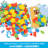 [HOT] Montessori Wooden Geometry Tangrams (250pcs)
