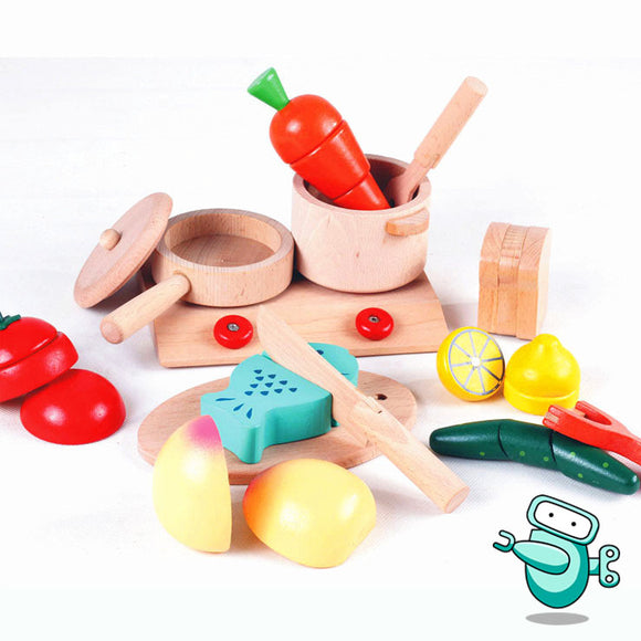 [HOT] KiumHouse Wooden Kitchen & Fruit Set
