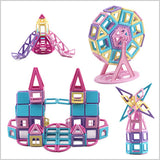 [HOT] Magnetic Building Block Set (Macaron Color)(62/99/118/156/180/258pcs)