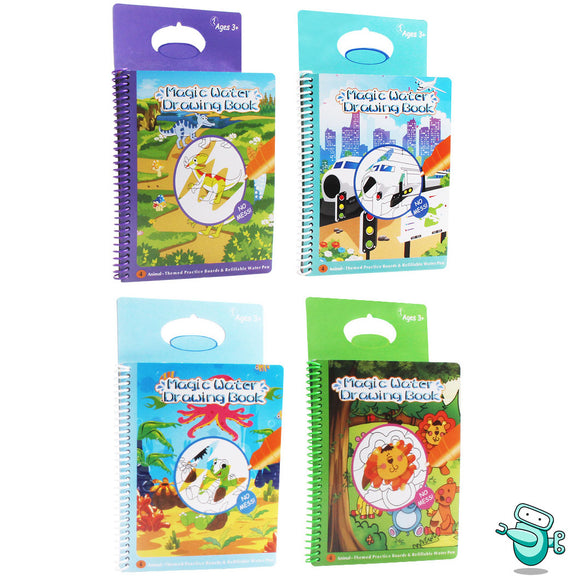 Magic Water Book - Reusable Color with Water Activity Book