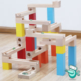 [HOT] Wooden Marble Run Building Block (54pcs)