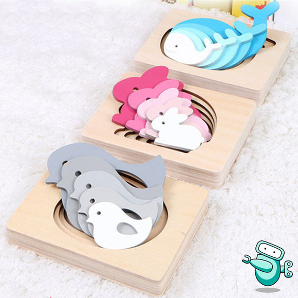 3D Multilayer Animal Puzzle
