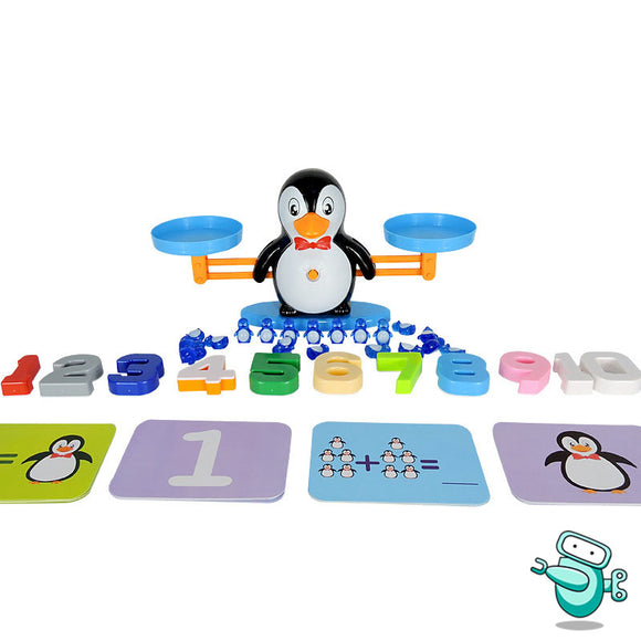 Penguin Numbers Balancing Scale