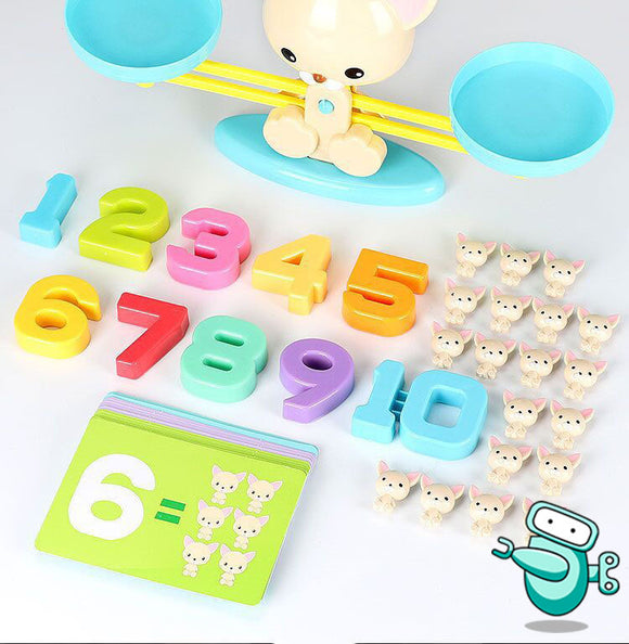 Puppy Numbers Balancing Scale