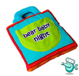 Baby Early Development Cloth Book - Bear Baby Night