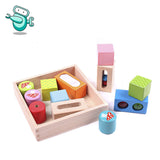 [HOT] Tchibo Montessori Wooden Baby Sensory Building Block