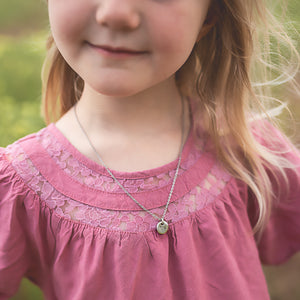 Hand Stamped Necklace | Children's Unicorn Necklace