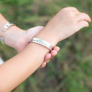 Children's Pewter Cuffs -handmade custom leather cuffs & pewter products