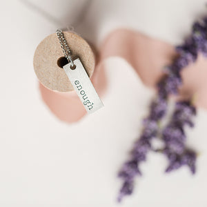 Hand Stamped Necklace | Word Necklace