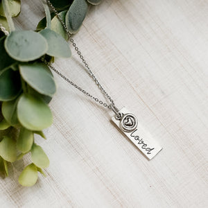 Hand Stamped Necklace | Loved Necklace