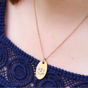 Hand Stamped Necklace | Monogram Necklace
