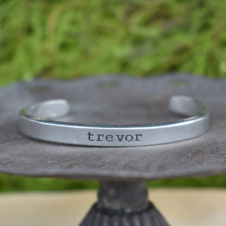 Custom Pewter Skinny Cuff -handmade custom leather cuffs & pewter products