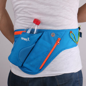 Running belt waits pack with water bottle holder for men and women