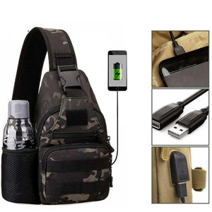 Tactical Shoulder Bag With USB Charging - Toplineoutdoors