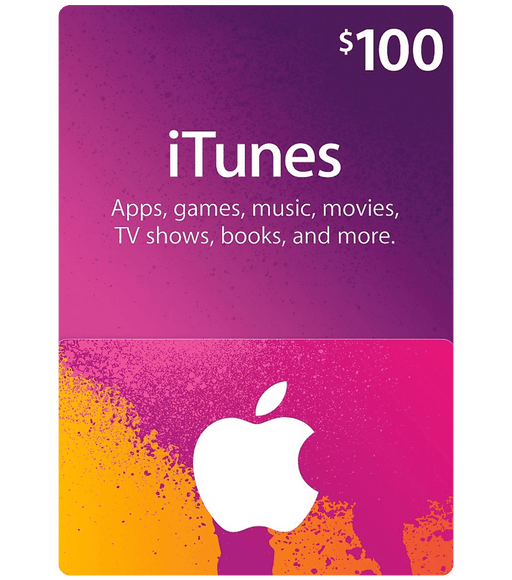 Apple iTunes Gift Cards $100