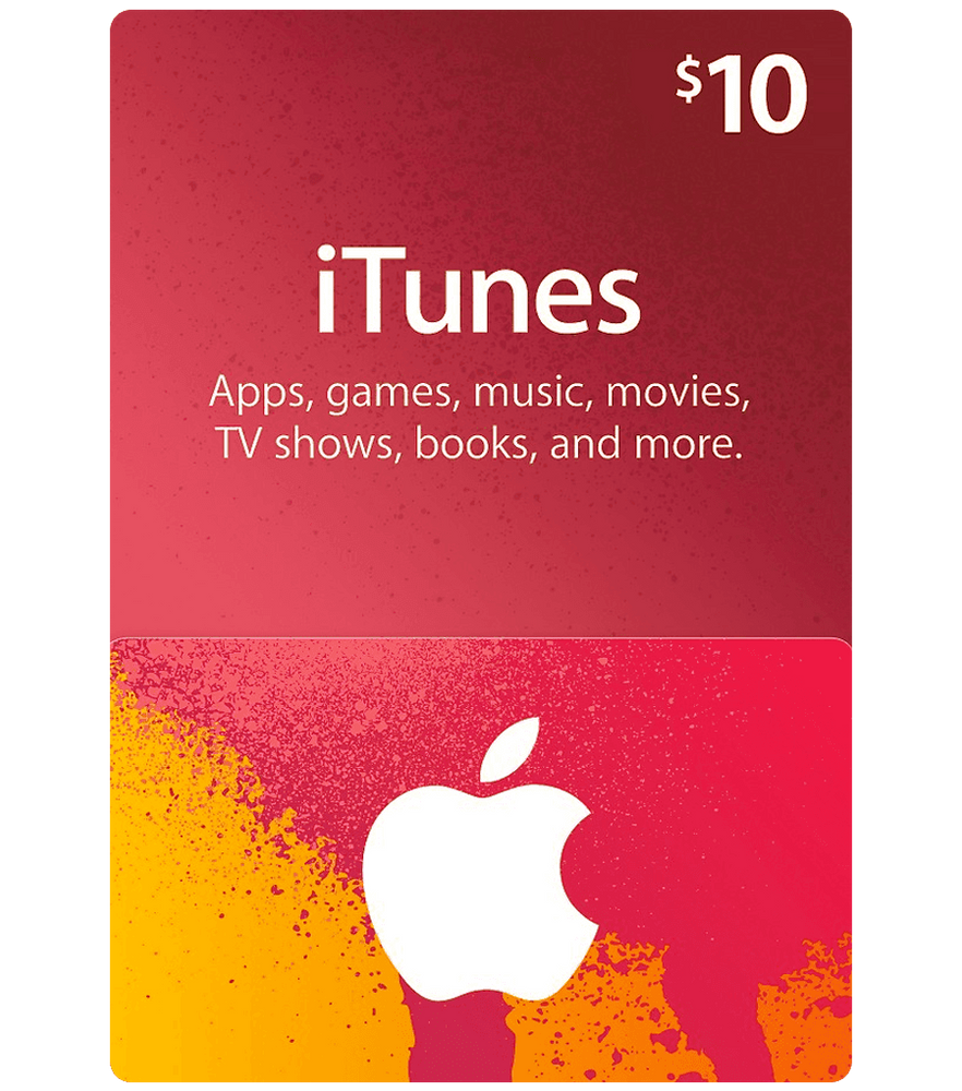 Apple iTunes Gift Cards $10