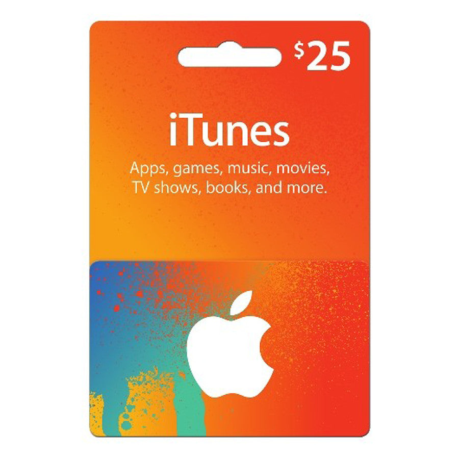 Apple iTunes Gift Cards $25