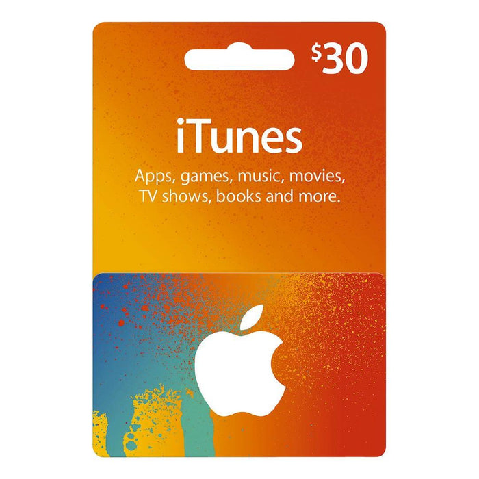 Apple iTunes Gift Cards $30