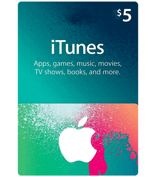 Apple iTunes Gift Cards $5