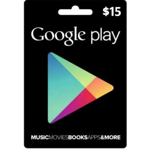 Google PlayStore Gift Card $15