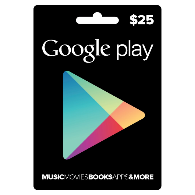 Google PlayStore Gift Card $25