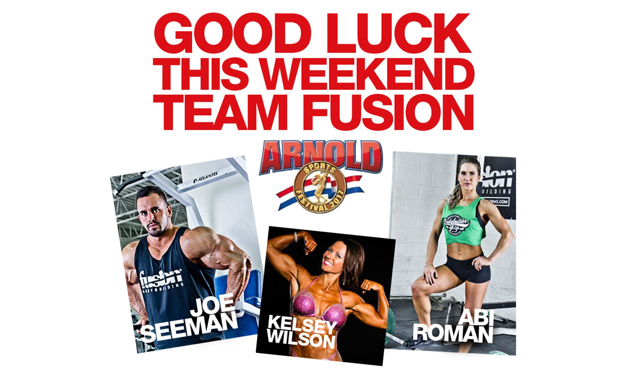 GOOD LUCK TEAM FUSION!