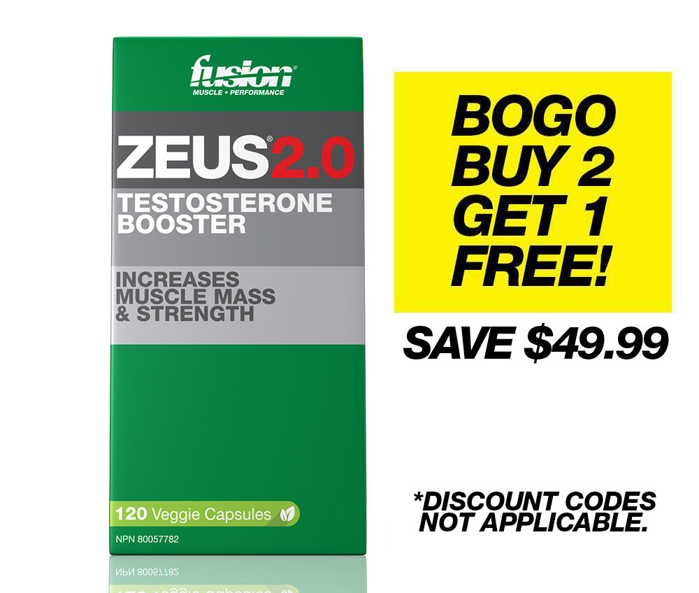 NEW ZEUS2.0 - TESTOSTERONE BOOSTER - 3-PACK