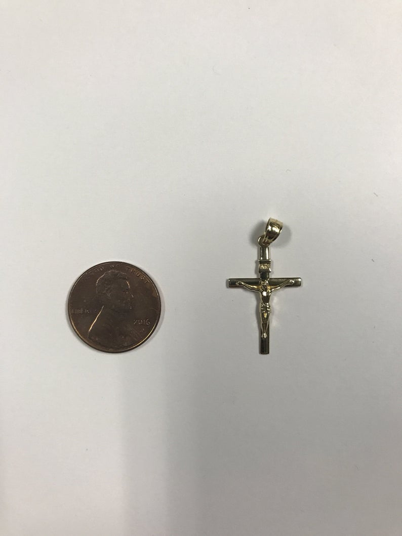 High Detail 10k Solid Gold Crucifix Cross Very High Quality
