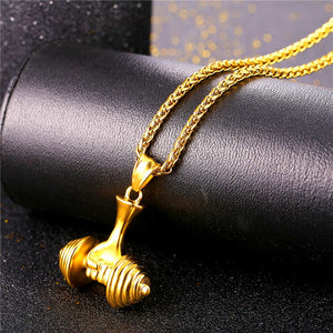 Deluxe Dumbbell Necklace | BigGymStore.com