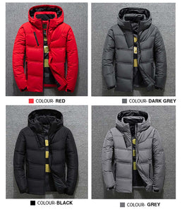 Mens Duck Down Padded Winter Hooded Puffer Jacket | BigGymStore.com - biggymstore
